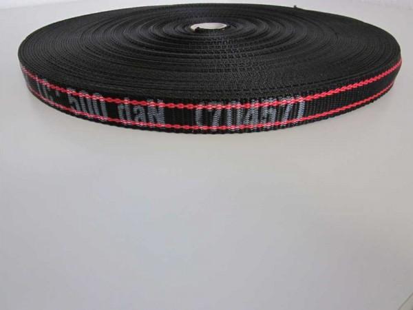 Bindegurt schwarzrot gestreift Nr. 70457