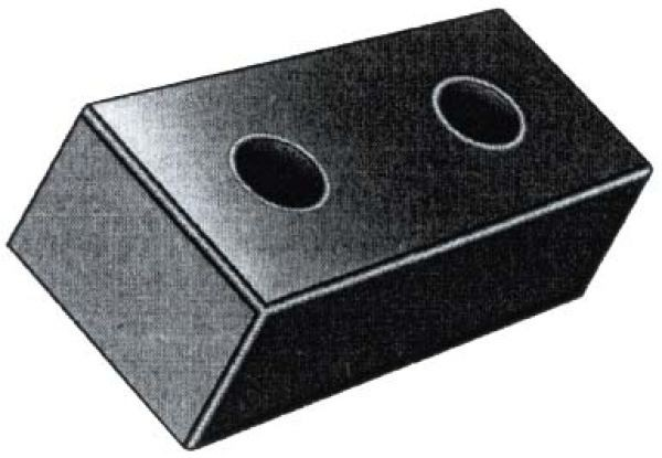 Rammschutzpuffer 500 x 250 x 140 mm